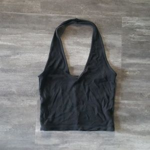Black Cropped Melville Classic Halter